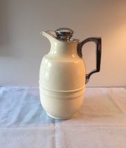 Vintage 60s thermal metal coffee decanter/pitcher with corked stopper