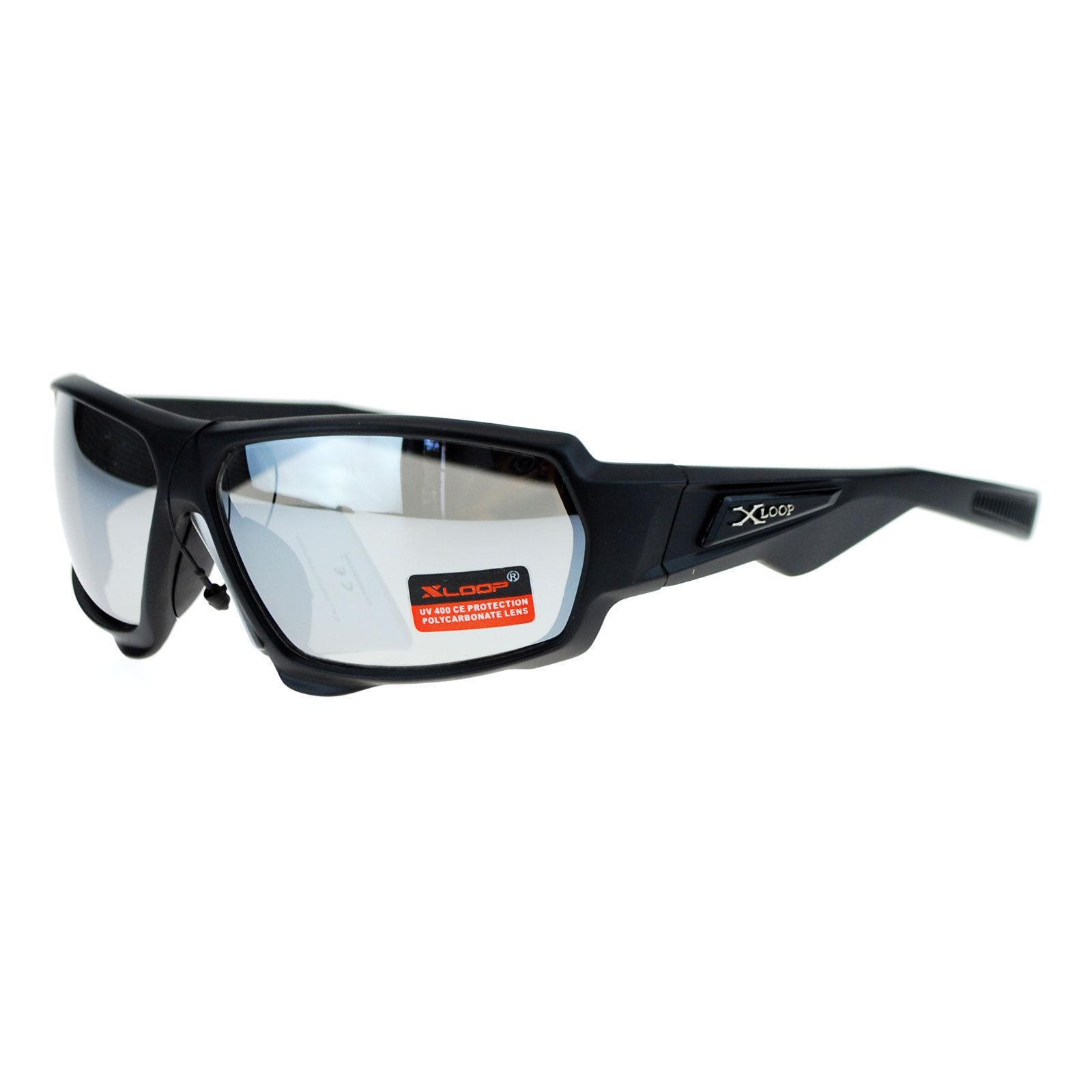 Xloop Mens Sunglasses Matted Rectangular Wrap Around Sports Fashion