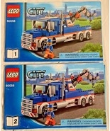 "LEGO CITY #60056 ""TOW TRUCK"" **INSTRUCTION MANUALS #1 & #2 ONLY** - $3.95"