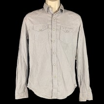 American Eagle Outfitters Mens XS Snap Down Shirt Top Stripe Vintage Fit... - $16.44