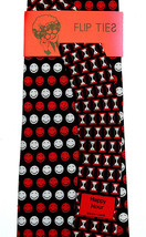 Happy Hour Men's Necktie Silk Bartender Smiley Vicky Davis Flip Black Ne... - $19.75