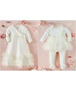 NWT Mud Pie Baby Girls Mesh Ruffle Gown Skirted Sleeper Pajamas - $24.99