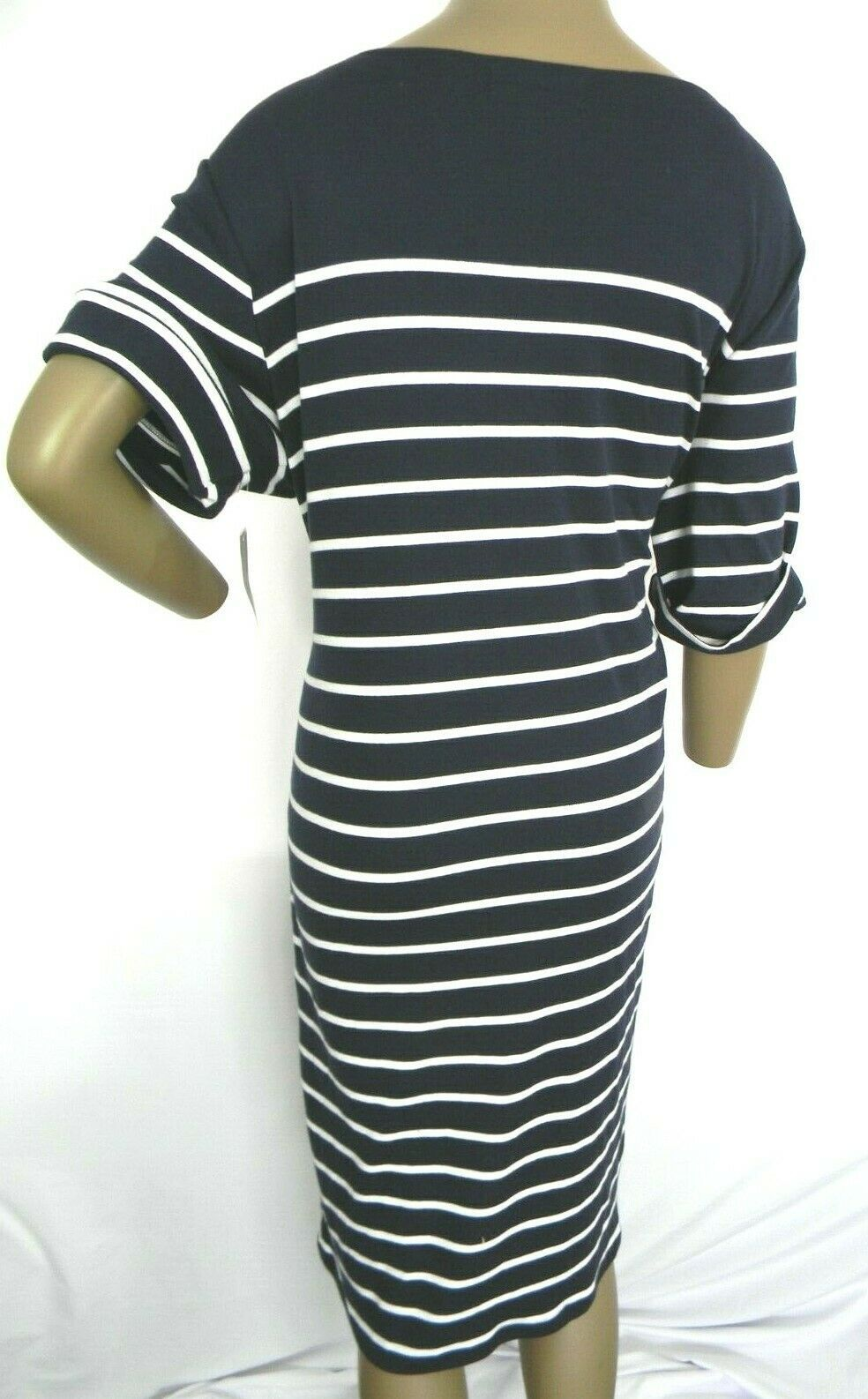 Karen Scott Plus Size 2X,3X Dress Floral Embroidered Striped Shift Dress NEW $54 image 5