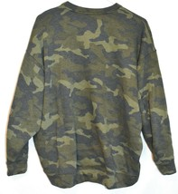 Express One Eleven Women's Faded Camo Crew Neck Front Pocket Sweatshirt Size S image 2