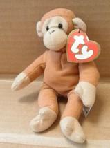 TY Teenie Beanie Babies Bongo the Monkey Stuffed Animal Plush Toy - 5 in... - $11.53