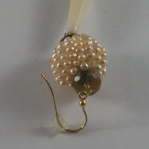 SOLID 18K YELLOW GOLD EARRINGS, WITH SMOKY QUARTZ, PEARLS AND BIG DROPS image 4