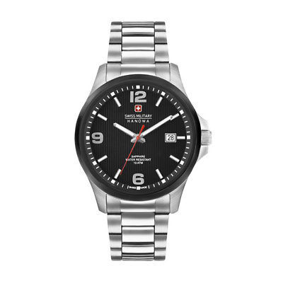 Mens Quartz Watch Swiss Military - OBSERVER_06-5277_33 Black Stainless Steel