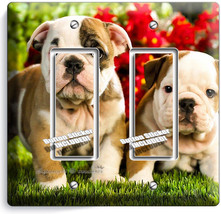 Cute French Bulldog Puppy Dog Double Gfi Light Switch Wallplate Cover Room Decor - $10.79