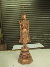So Rare Big Holy Sacred Standing Phra Ratanakosin 200 Years Thai Buddha Amulet - $149.99