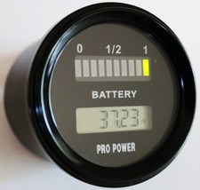 24, 48 Volt LED Battery Indicator w/ LCD Volt Display Works On Newer Bat... - $37.39