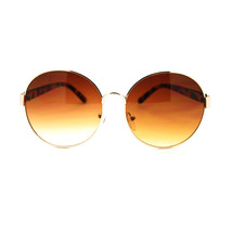 90s Pop Star Oversized Oval Womens Metal Frame Designer Fashion Chic Sun... - $7.95