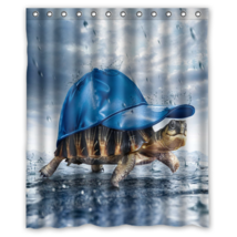Funny Turtle Shower Curtain Waterproof Made From Polyester - $29.07+