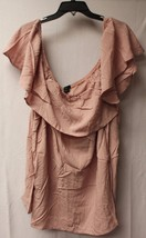 New Womens Plus Size 3 X Dusty Pink Flutter Off Shoulder Shirt Top Work Or Play - $19.34