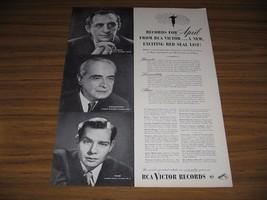 1947 Print Ad RCA Victor Records Robert Shaw,Horowitz,Koussevitzky - $10.88