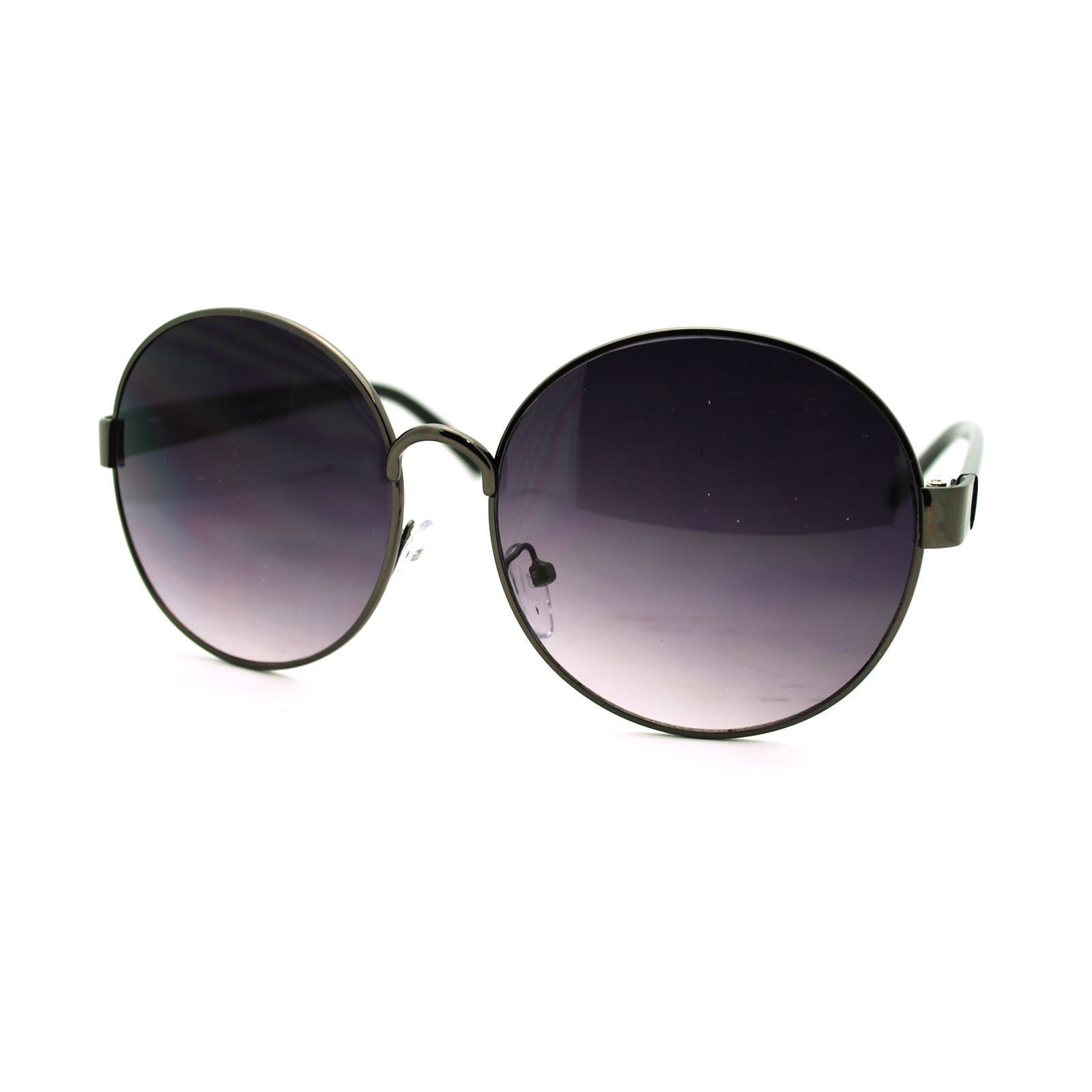 90s Pop Star Oversized Oval Womens Metal Frame Designer Fashion Chic Sunglasses