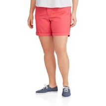 """NEW WOMENS PLUS SIZE 22W 22 DESERT PEACH CORAL BELTED 7"""" 5 POCKET JEAN S... - $13.54"""