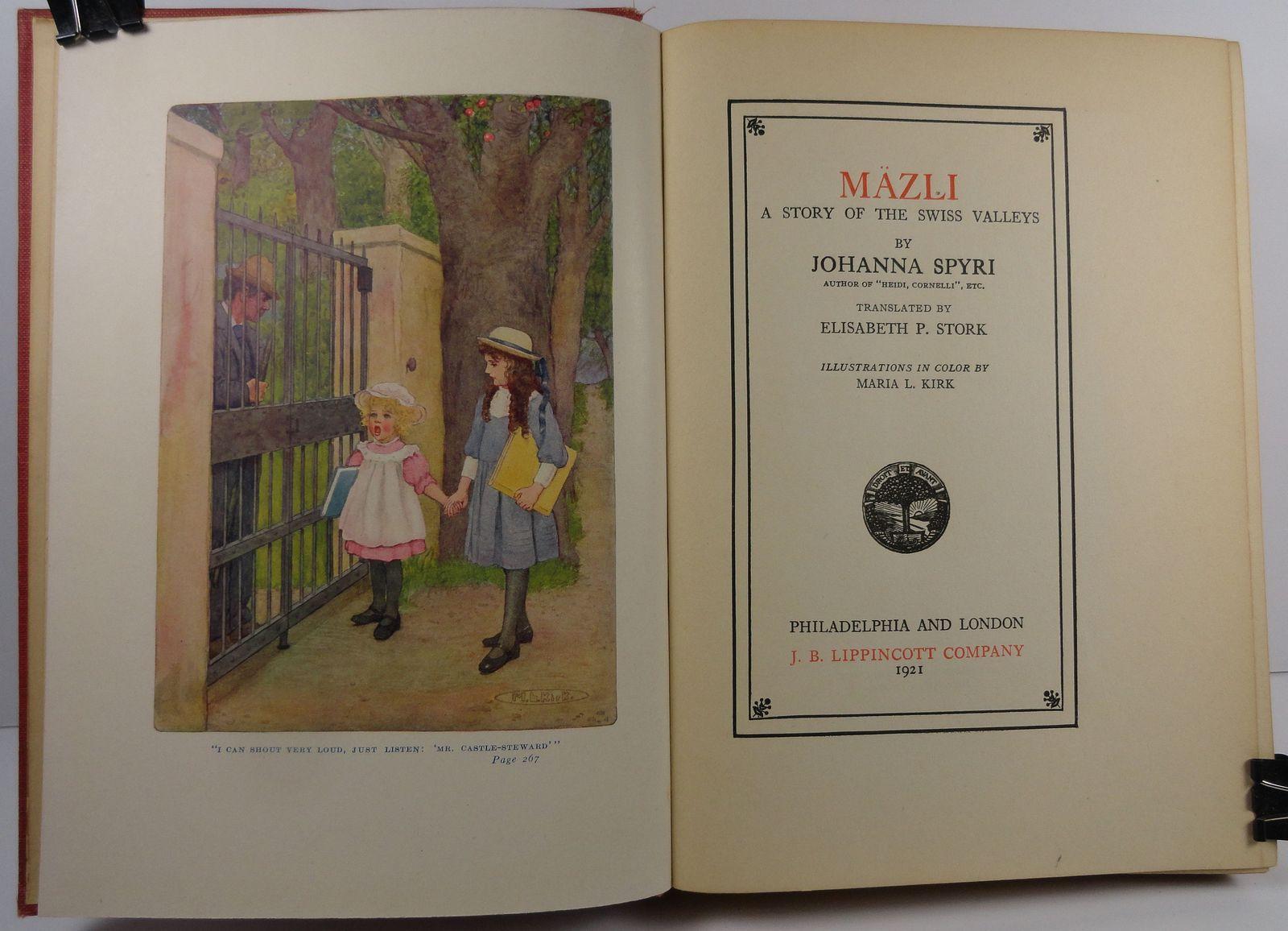 Mazli A Story of the Swiss Valleys by Johanna Spyri