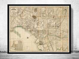 Vintage Map of Tokyo Tokio Japan 1893 Japan Art - $29.00