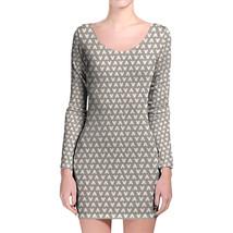 Mouse Ears Polka Dots Kraft Longsleeve Bodycon Dress - $36.99+
