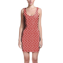 Mouse Ears Polka Dots Red Bodycon Dress - $30.99+