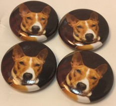 "Set Of 4 ""Red Basenji Face"" Fridge Magnets / 4 ... - $7.65"