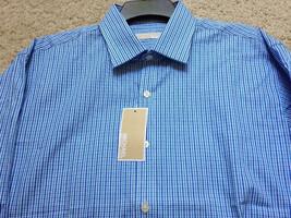 NEW MICAEL KORS Tiny Plaid DRESS SHIRT Size 16 X 32/33 NWT Free US Ship - €19,05 EUR