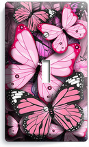 PINK BUTTERFLIES SINGLE LIGHT SWITCH WALL PLATE... - $9.99