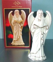"""Lenox Angelic Visions Rejoice Winged Angel Figurine Hand Painted 8"""" H New - $29.90"""