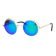 Womens Sunglasses Round Circle Double Metal Frame Mirror Lens UV 400 - $11.95