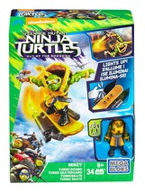 Mega Bloks TMNT Mikey Turbo Board Teenage Mutant Ninja Turtles Turboskat... - $14.95