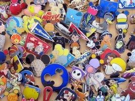 Disney Hidden Mickey Cast Lanyard Collector Badge Pin LOT of 30 Pins NO ... - $26.60