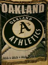 "Oakland Athletics MLB Baseball Throw Blanket w/ Fringe 50"" x 60"" - $31.63"