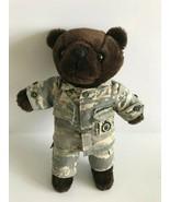 """US United States Of America Air Force Camaflauge 11"""" Dark Brown Teddy Bear - $11.30"""