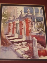 Gate Of Charleston, S.C. Framed Print Victoria Platt Ellis Signed - $19.34
