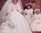 Princess Diana & Her Bridesmaids fits Barbie Paradise 47 Crochet PATTERN HTF OOP - $30.94
