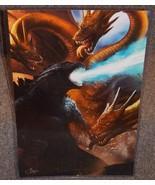 Godzilla vs King Ghidorah Glossy Print 11 x 17 In Hard Plastic Sleeve - $24.99