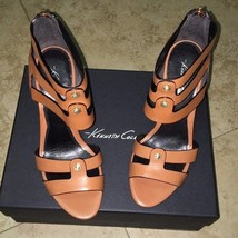 Kenneth Cole NY Balfour Leather Wedge Sandals Size 7.5 - $52.25