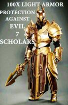 100X  7 SCHOLARS LIGHT ARMOR PROTECTION AGAISNT EVIL POWERS GIFTS HIGH E... - $99.77