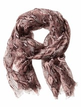 Banana Republic Lightweight Snake Skin Print Scarf, cocoon, NWT - $40.50