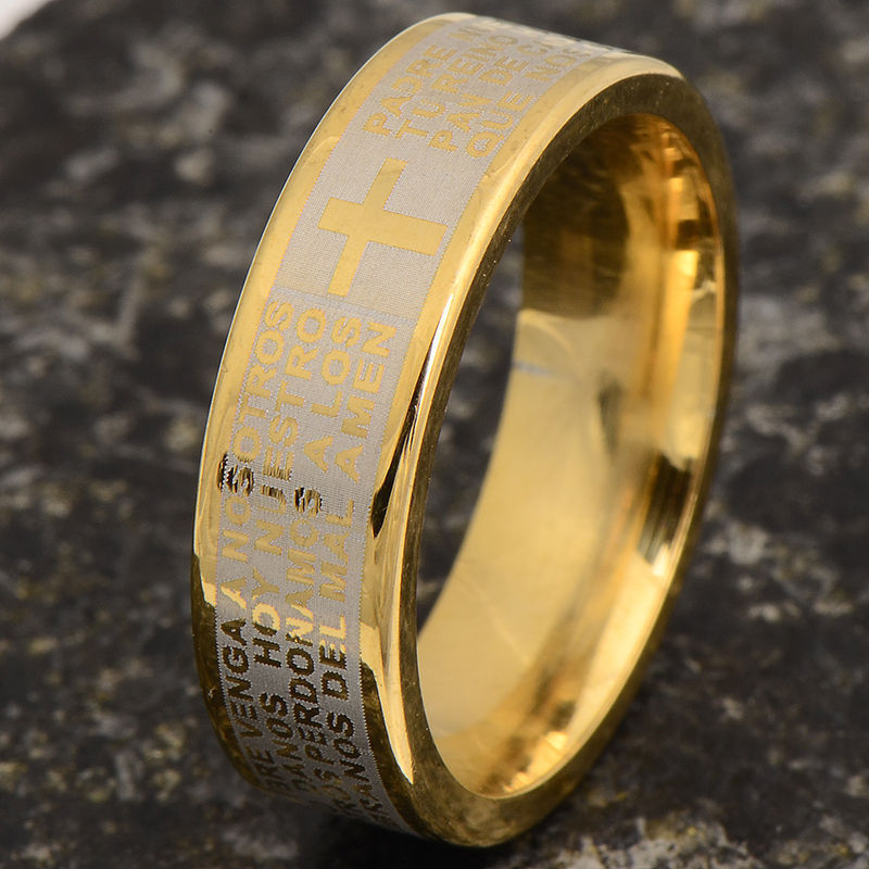 Primary image for CROSS GOLD PLATED RING