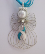 Cervical Cancer Awareness Teal Ribbon Angel Nec... - $11.00