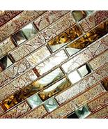 Retro Golden - 3-Dimensional Mosaic Decorative Wall Tile(10PC) - $139.58