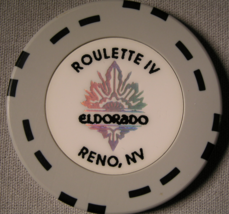 "1980's Roulette IV Chips From ""The Eldorado Casino"" - (sku#2116) - $2.99"