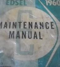 1960 Ford Edsel Maintenance Service Shop Repair Manual BRAND NEW REPRINT - $98.99