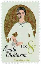 1971 8c Emily Dickinson Scott 1436 Mint F/VF NH - $0.99