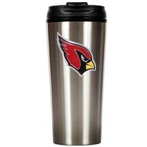 Arizona Cardinals Primary Logo 16 oz Stainless Steel Travel Mug Tumbler Cup - $19.95
