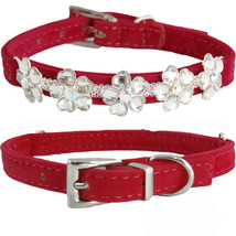 Cute Small Red PU Leather HEART FLOWERS Bling D... - $8.99