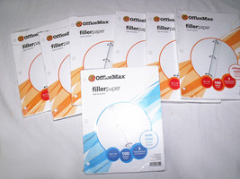 OfficeMax 6 College Ruled 1 Wide Ruled Loose Leaf Filler Paper - $15.00