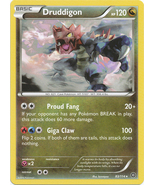 Druddigon 83/114 Rare XY Steam Siege Pokemon Card - $0.69