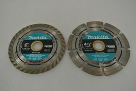 "Makita Diamond Blades 4"" A-94546 4 1/2"" A-94683 Segmented Rim Cutting Unused - $19.34"